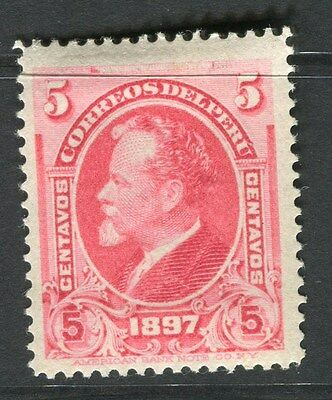 PERU;  1898 early classic issue 5c. Mint hinged