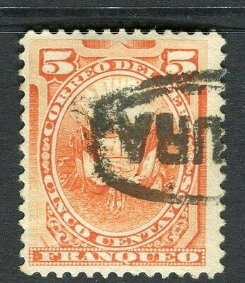 PERU;  1884 early classic issue fine used 5c. value