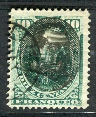 PERU;  1894 early classic Optd. issue fine used 10c. value