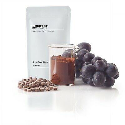 Grape Seed 6000mg Tablets : High Strength Extract Pure Antioxidant Skin