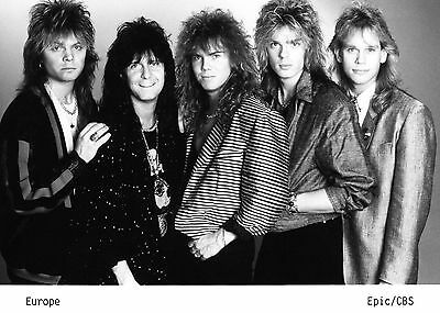 Europe - Promo Press Photo 1988 - Joey Tempest - John Norum - Out Of This World