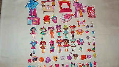 Bundle Of Mini Lalaloopsy Dolls And Accessories Over 50 Items