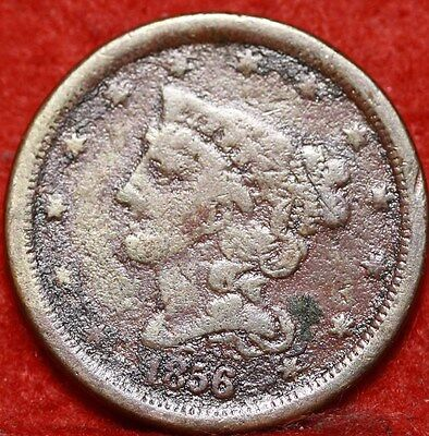 1856 Philadelphia Mint Copper Braided Hair Half Cent Free Shipping