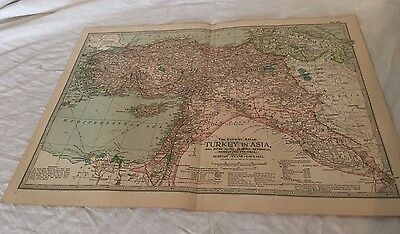 Vintage Turkey in Asia The Map CENTURY DICTIONARY AND CYCLOPEDIA 1906 20183