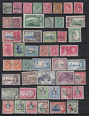 Jamaica - Interesting Selection of Early Stamps  (Ja11021)