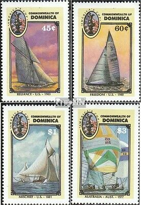 dominica 1018-1021 (complete.issue.) unmounted mint / never hinged 1987 Sailing