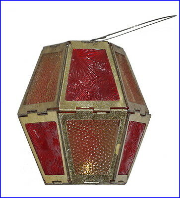 Antique folding latern ornament, candle holder, Germany ca. 1910 (# 6468)