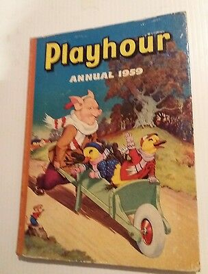 PLAYHOUR ANNUAL 1959 Gran'pop Sonny Sally Mimi Marmy Rare child's collectable