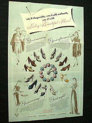 NISLEY SHOES Advertising Flyer CHARM STEPS   &   CHANSONETTES   Must See !!!!!!!