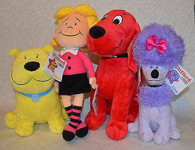 CLIFFORD the Big Red Dog Kohl's Cares SET of 4 EMILY ELIZABETH T-BONE CLEO New