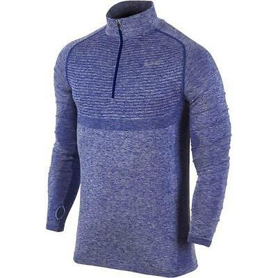 Nike Dri-FIT Knit Half-Zip Mens Long Sleeve Running Top Shirt Size Large