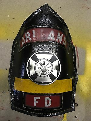 Antique Cairns And Bro? Orleans Fire Helmet Shield Front