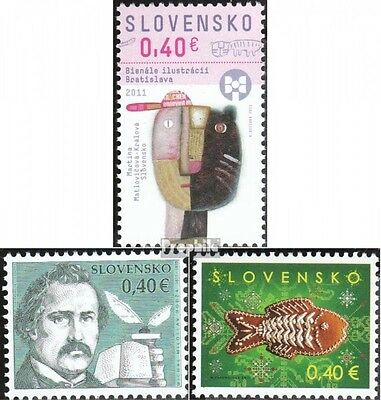 Slovakia 667,668,670 (complete.issue.) unmounted mint / never hinged 2011 bienni