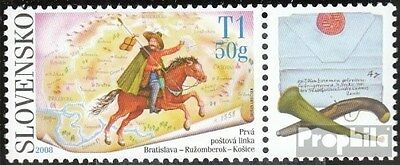 Slovakia 595Zf with zierfeld (complete.issue.) unmounted mint / never hinged 200