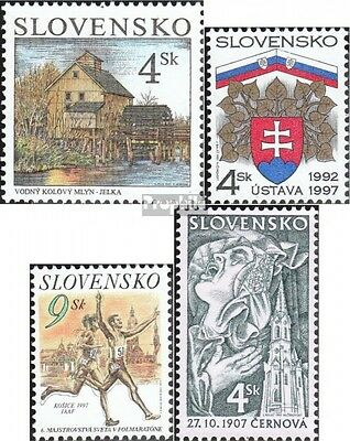 Slovakia 286,287,288,295 (complete.issue.) unmounted mint / never hinged 1997 Mo