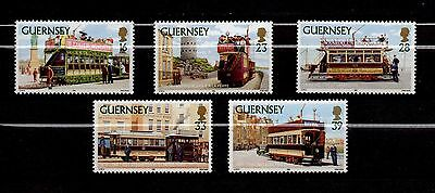 Guernsey, Scott # 503-507, Set Of 5 Stamps - Historic Trams 1992, Mnh