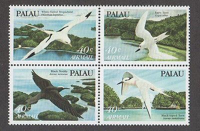 Palau, Scott # C1 - C4, Tropic Birds, First Palau Airmail Stamps, Block Of 4 Mnh