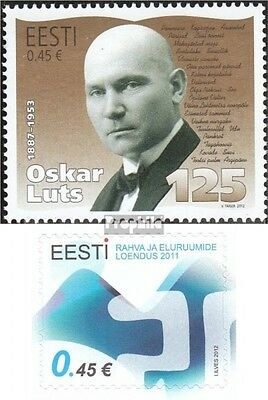 Estonia 719,720 (complete.issue.) unmounted mint / never hinged 2012 Luts, Censu