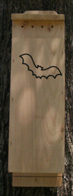 3 Chamber Handcrafted Bat House Mosquito & Pest Control with Free Lure