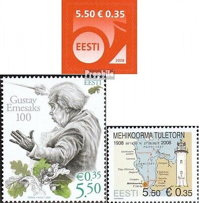 Estonia 600,601,602 (complete.issue.) unmounted mint / never hinged 2008 Horn, E