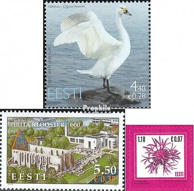Estonia 580,588,589 (complete.issue.) unmounted mint / never hinged 2007 swan, P