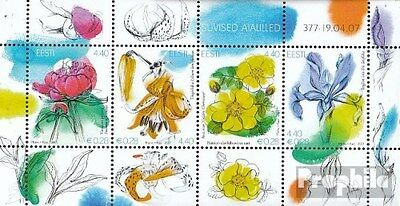 Estonia block28 (complete.issue.) unmounted mint / never hinged 2007 Flowers