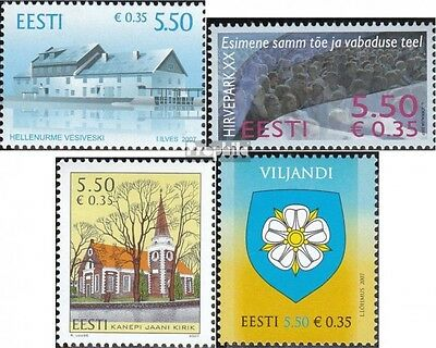 Estonia 592,593,596,597 (complete.issue.) unmounted mint / never hinged 2007 Hel