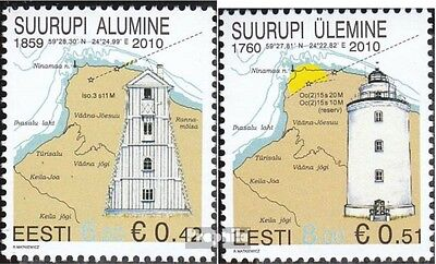 Estonia 662-663 (complete.issue.) unmounted mint / never hinged 2010 Lighthouses