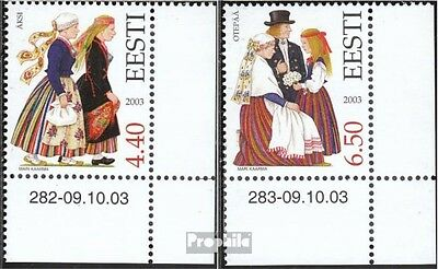 Estonia 472-473 (complete.issue.) unmounted mint / never hinged 2003 Costumes