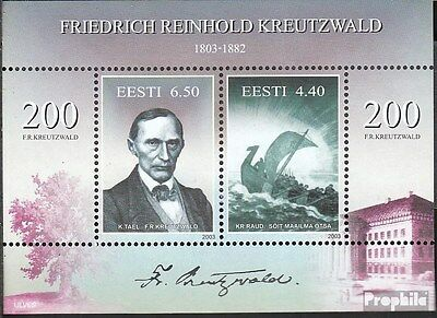 Estonia block20 (complete.issue.) unmounted mint / never hinged 2003 Kreutzwald