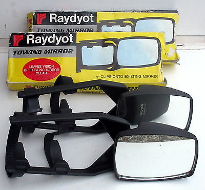Raydyot Car Caravan Universal Towing Wing Mirrors Pair Detachable Adjustable