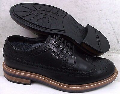 NEW Clarks Mens Darby Limit Black Leather GTX Oxfords Shoes 09684 size mm 7.5 M*