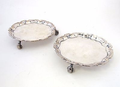 Pair of 1736 Silver Salvers by Denis Langton - Small