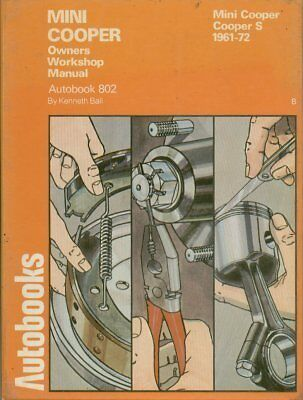 Mini Cooper 997 998 Cooper S 1000 1071 1275 ( 1961 - 1972 ) Owners Repair Manual