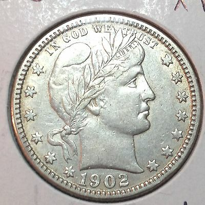1902-O  XF  Barber Quarter   Full Liberty and Band   Better Date     Nice Coin