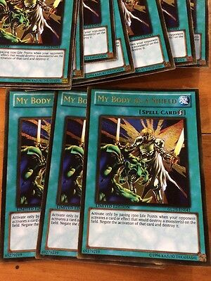 3x My Body As a Shield GLD3-en041 GOLD RARE Mint yugioh