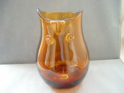 Glass vase in the shape of an Owl