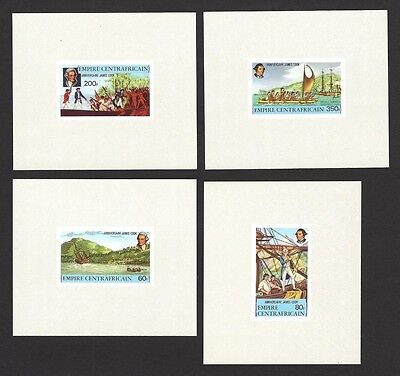 Central African Republic 1978 James Cook set of 4 imperf proof sheetlets