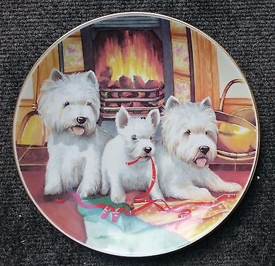 Royal Worcester plate - 1990 - Dogs and Puppies collection - Boxed
