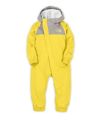 The North Face Yellow Gray Rain Jacket Suit 18 Months Baby Infant One piece