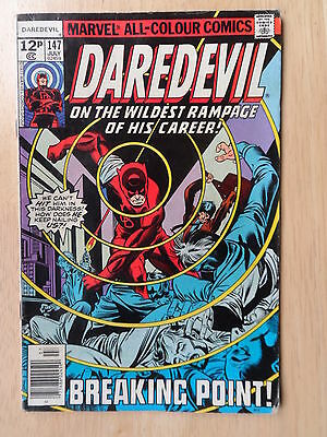 "Daredevil #147  _ ""breaking Point"" _ Vf Minus Condition _ 1977"