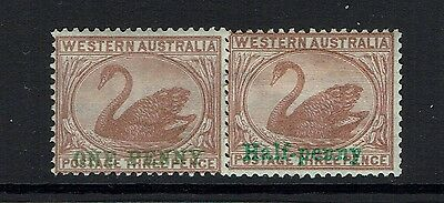 Western Australia SG# 107 and 110, Mint Hinged, Hinge Remnant - Lot 020617