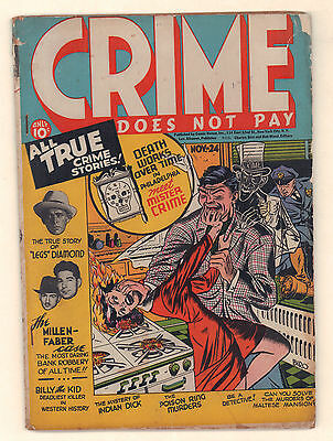 Crime Does Not Pay #24 - Classic Woman Burned Cover (Qualified Grade 4.0) 1942