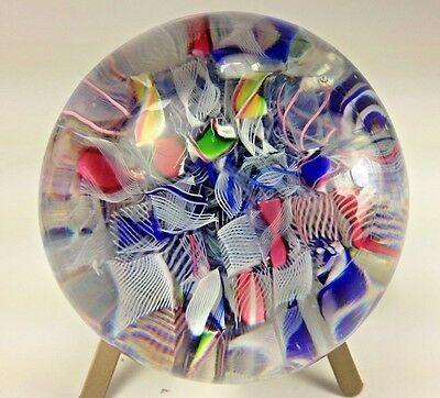 Antique Rare Baccarat France 1850's  MILLEFIORI Scrambled Floating Paperweight