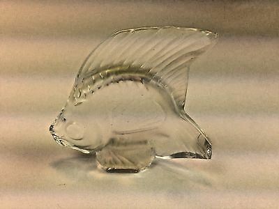 VINTAGE LALIQUE Frosted~Clear ANGEL FISH CRYSTAL FISH