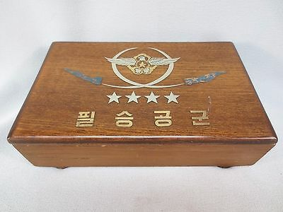 Vintage 1970's Presentation Box to USAF Colonel from Korean Air Force General