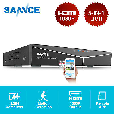 SANNCE 5in1 1080N CCTV 8 Channels DVR HDMI VGA Port Home Security System P2P QR