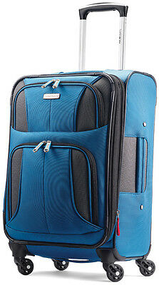 "Samsonite Luggage Aspire XLite 20"" Spinner Expandable Carry On Suitcase - Blue"