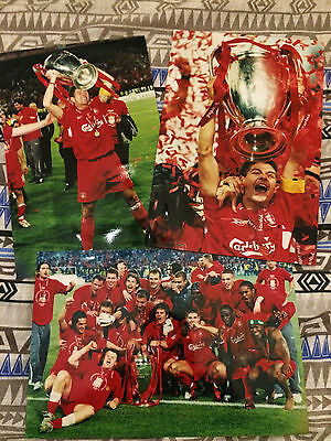 3 glossy 12x8 Official Liverpool FC European Cup photos