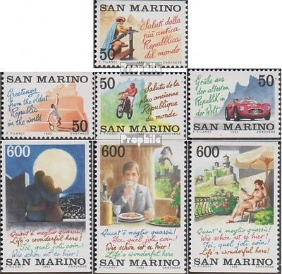San Marino 1496-1502 (complete.issue.) unmounted mint / never hinged 1992 Touris